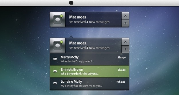 psd notification ui box Free Psd
