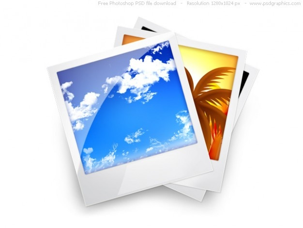PSD photo gallery icon Free Psd
