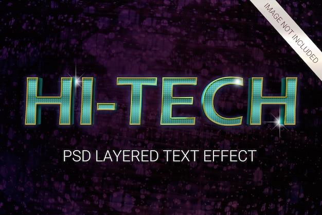 Psd 공상 과학 미래의 80 년대 텍스트 효과 프리미엄 PSD 파일
