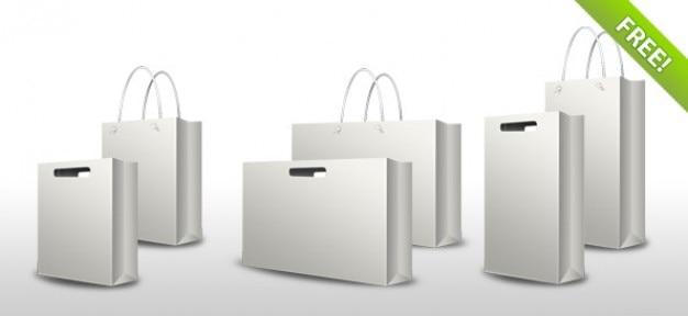 PSD Shopping Bag Set PSD file   Free Download