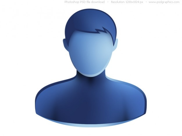 Psd универсальный синий значок веб-пользователей Бесплатные Psd