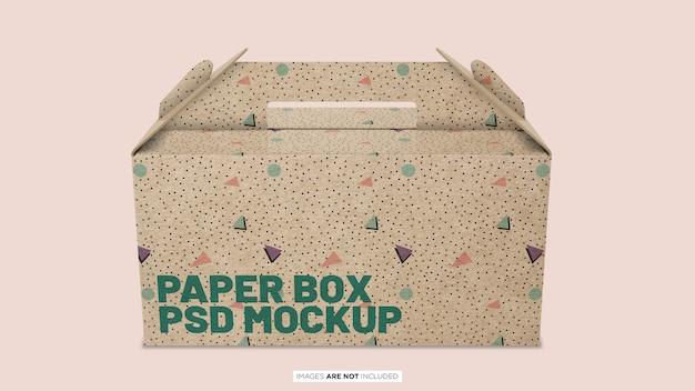 紙容器ボックスpsdモックアップ Premium Psd