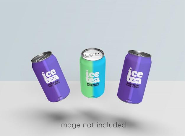 Сода может макет коллекции psd Бесплатные Psd