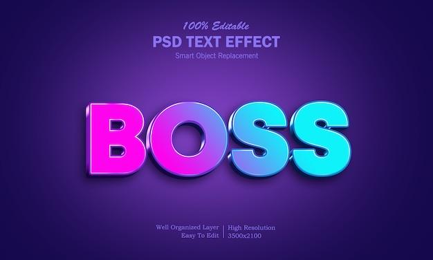 現代のボスのpsdテキスト効果 Premium Psd