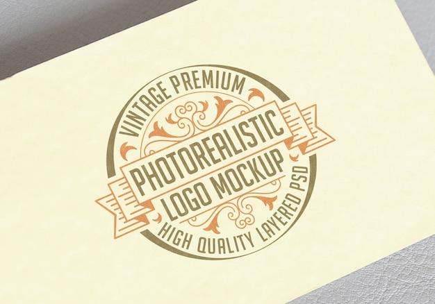 ビンテージプレミアム写実的なロゴのモックアップ - 高品質層状ロゴタイプモックアップpsdファイル Premium Psd