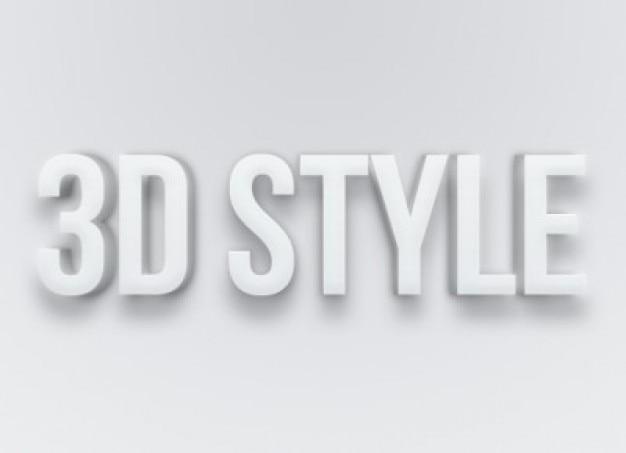 灰色のテキストエフェクトのスタイルpsdファイル 無料 Psd