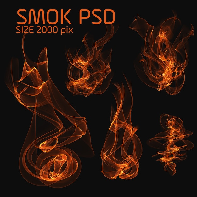Psdの火の煙 Premium Psd