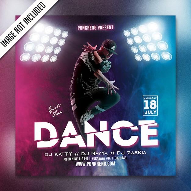 ダンスパーティーのフライヤーpsd Premium Psd