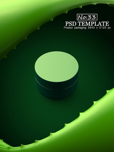 製品パッケージのpsdテンプレート Premium Psd