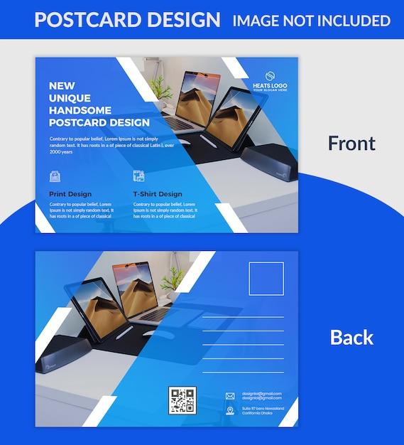 創造的な会社のはがきデザインのpsdテンプレート Premium Psd