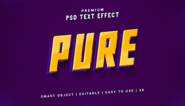 Pure text effect generator Premium Psd