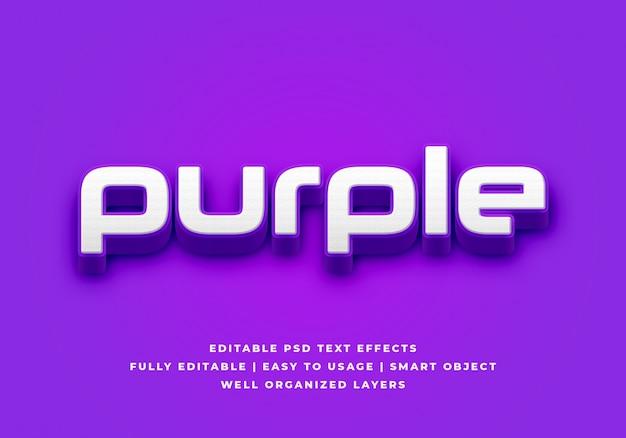Purple 3d text style effect Premium Psd