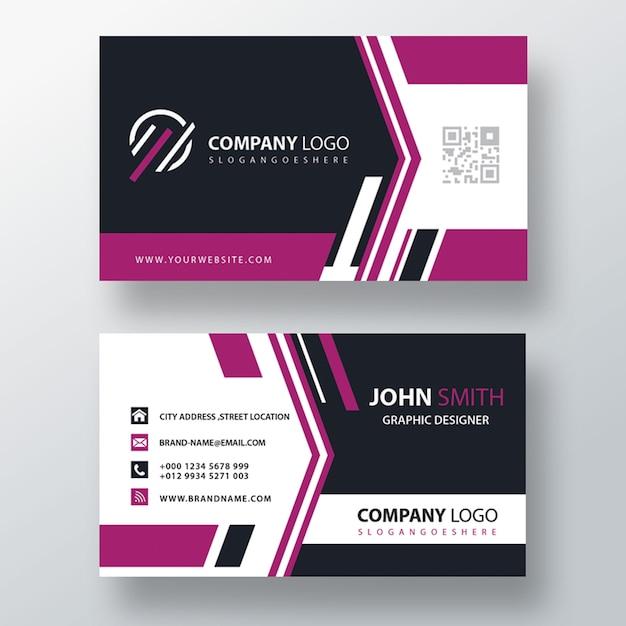 Purple corporate card Free Psd