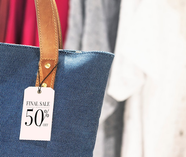 Purse discount label tag Free Psd