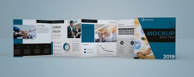 Quadfold brochure mockup Free Psd