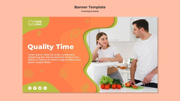Quality Time And Cooking Banner Template Free Psd File