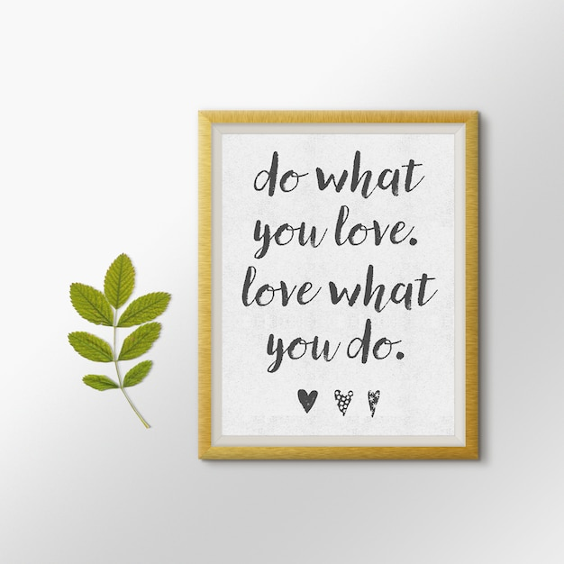 Quote picture frame mock up PSD file | Free Download