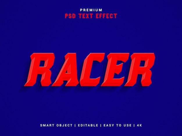 Racer text effect шаблон, psd. Premium Psd