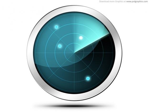 Radar screen icon (PSD) Free Psd
