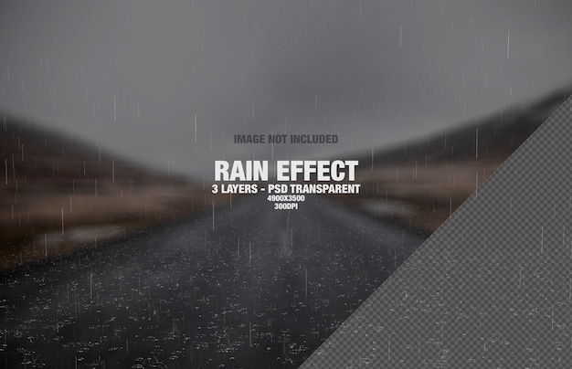 Rain or real rainfall effect Premium Psd