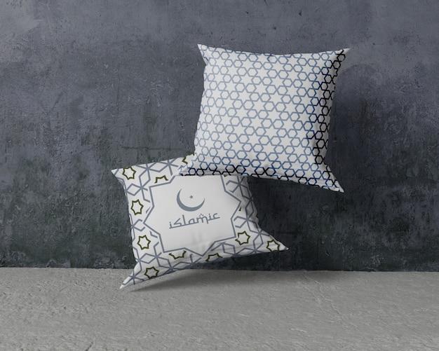 Рамадан композиция макет с подушками Premium Psd