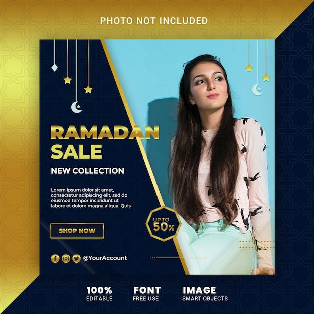 Ramadan fashion offer sale social media post template banner