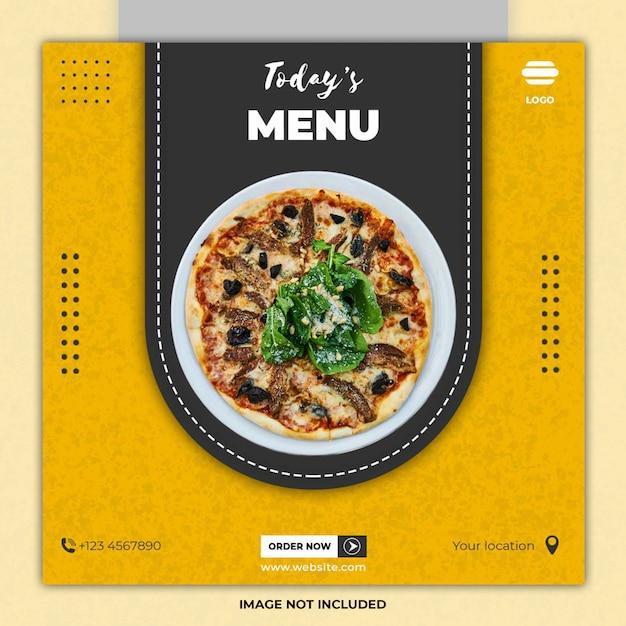 ラマダン食品ソーシャルメディアの投稿テンプレート Premium Psd