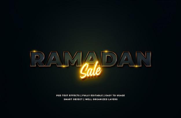 Рамадан продажа 3d текст стиль эффект Premium Psd