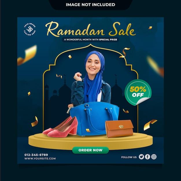 Ramadan sale social media post template