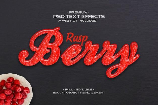 Raspberry text effect Premium Psd