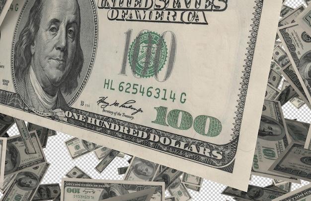 Real bucks rain - сотни долларов падают с вершины Premium Psd