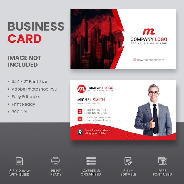 Real estate business card Premium Psd
