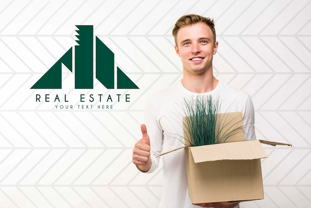 Real estate concept mock-up Free Psd