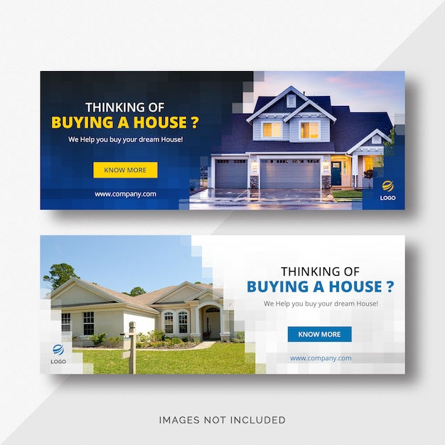 Real Estate Facebook Cover Banners Premium Psd File