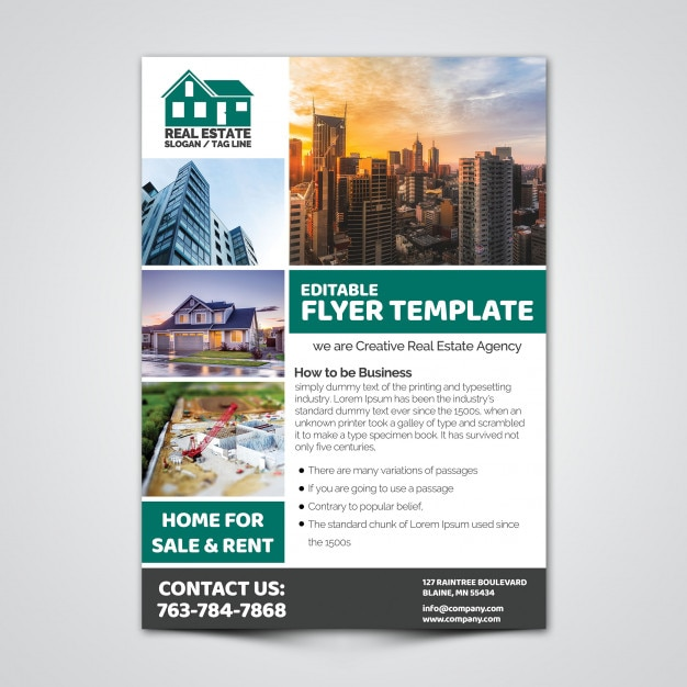 Real Estate Flyer Template PSD file | Premium Download