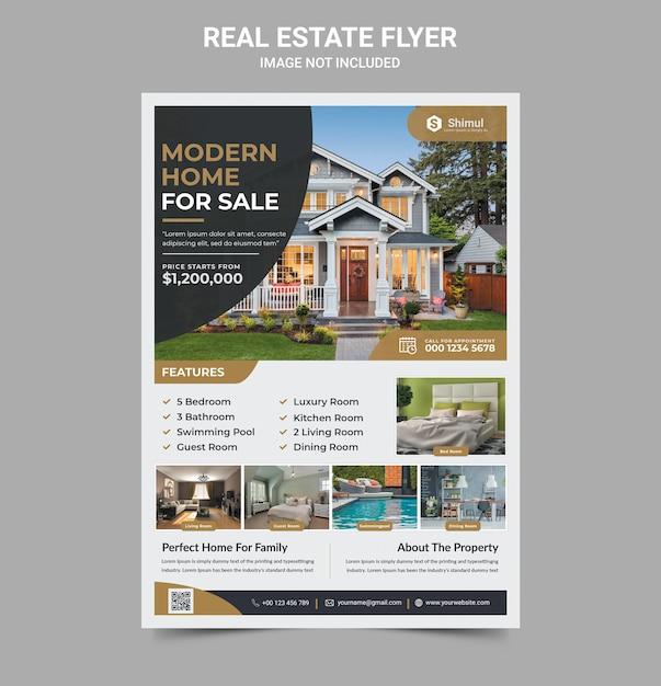 Real estate flyer Premium Psd