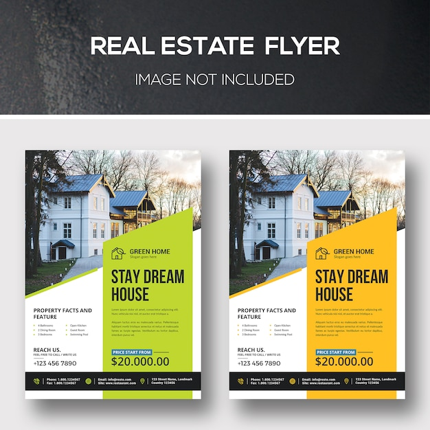 Real estate flyer Premium Psd