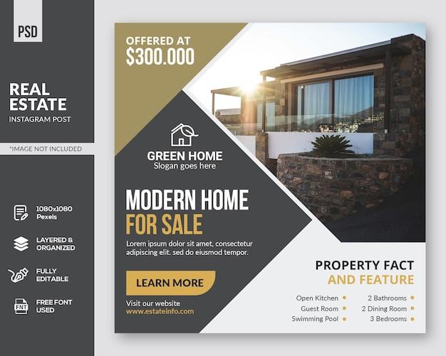 Real estate instagram post template Premium Psd