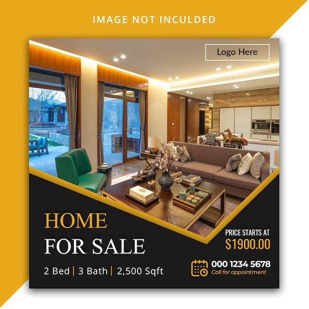 Real Estate Instagram Template Premium Psd File