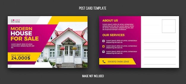 Real estate postcard design template Premium Psd
