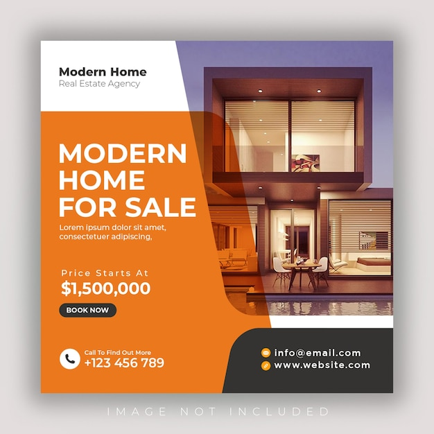 Real estate social media banner template Premium Psd