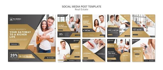 Real estate social media post Free Psd
