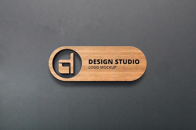 Realistic 3d logo mockup Premium Psd