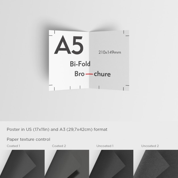 Realistic A5 Brochure Mock Up Psd File Free Download