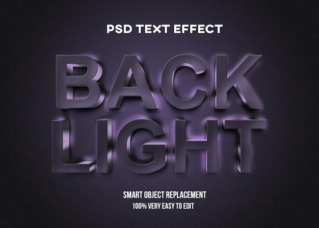 現実的なバックライト暗いテキスト効果テンプレート Premium Psd