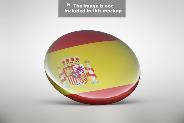 Realistic badge presentation Free Psd