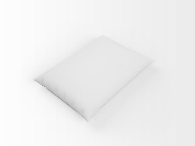 Реалистичная пустая белая подушка Бесплатные Psd