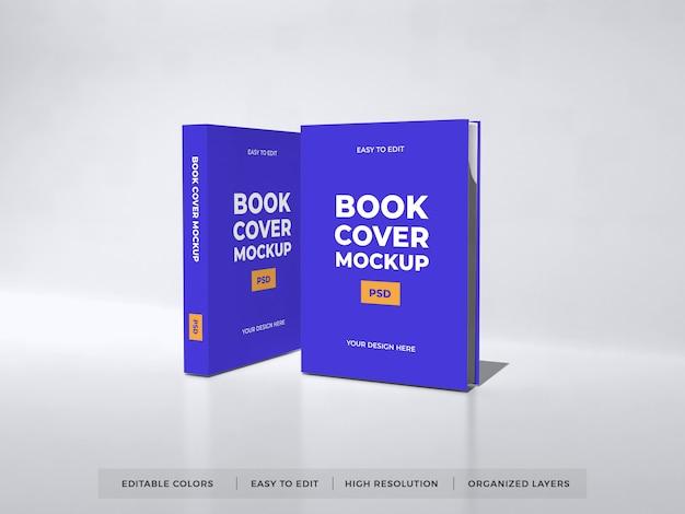 Реалистичный макет обложки книги Premium Psd