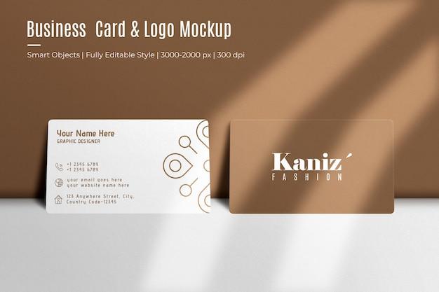 Реалистичная визитка и макет логотипа Premium Psd