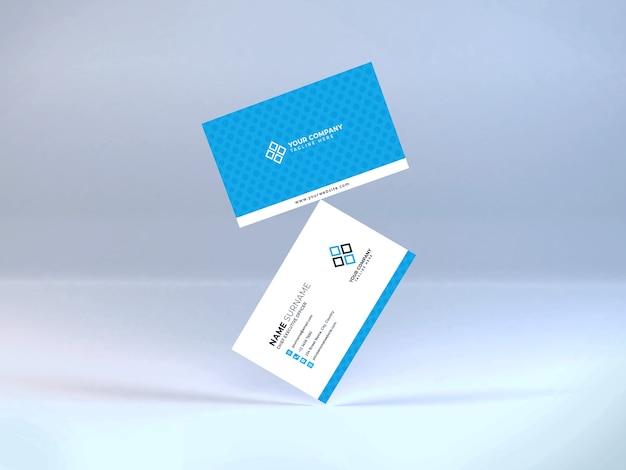 Realistic business card mockup template psd Premium Psd